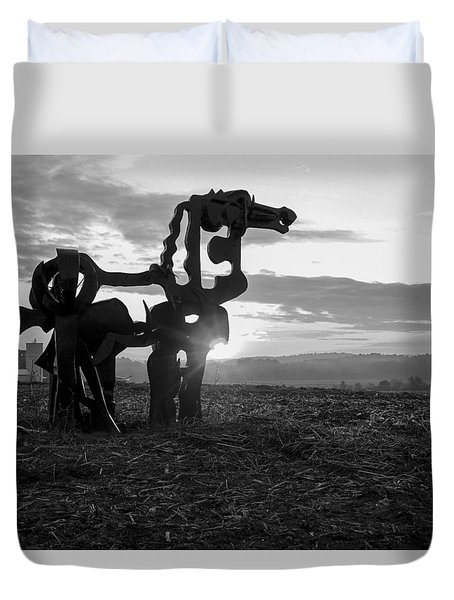 Watchful The Iron Horse  Duvet Cover