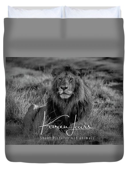 Duvet Cover featuring the photograph Watching And Waiting by Karen Lewis