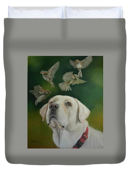 Watching Birds Duvet Cover by Ceci Watson