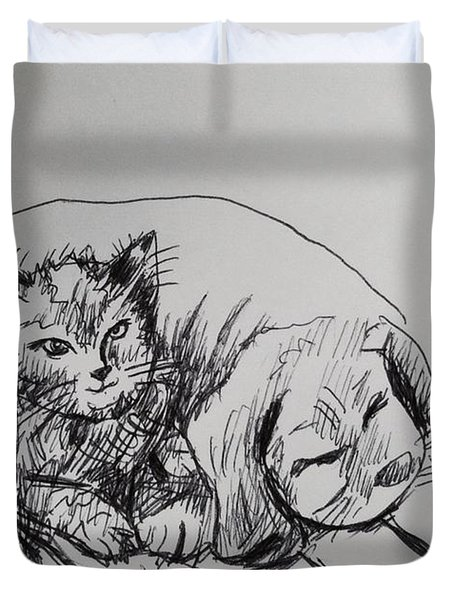 Watching Dog Duvet Cover