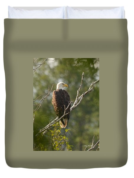 Watching Eagle Duvet Cover