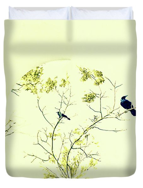 Watching For Winter Duvet Cover