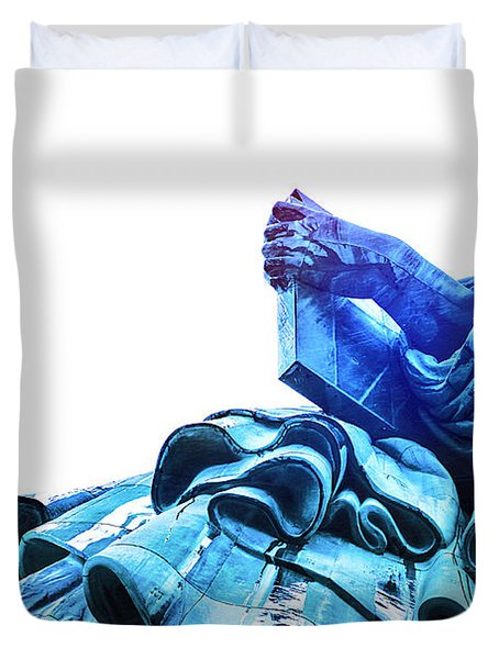 Watching Liberty Duvet Cover