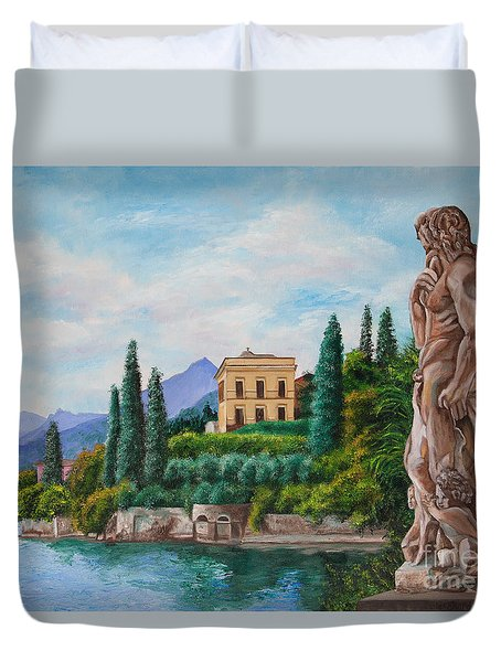 Watching Over Lake Como Duvet Cover by Charlotte Blanchard