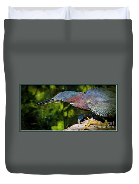 Duvet Cover featuring the photograph Watching by Pamela Blizzard
