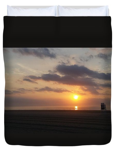 Duvet Cover featuring the photograph Watching Sunrise by Robert Banach
