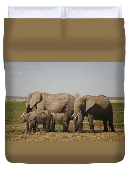 Duvet Cover featuring the photograph Watching The Children by Gary Hall