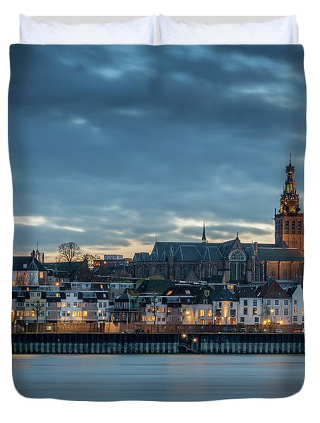 Watching The City Lights, Nijmegen Duvet Cover