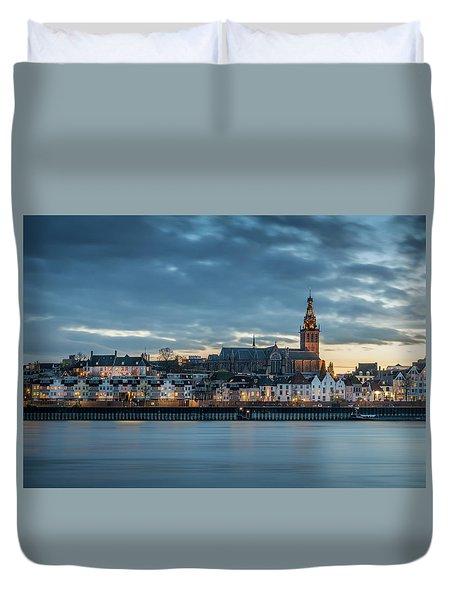 Watching The City Lights, Nijmegen Duvet Cover