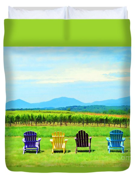 Watching The Grapes Grow Duvet Cover