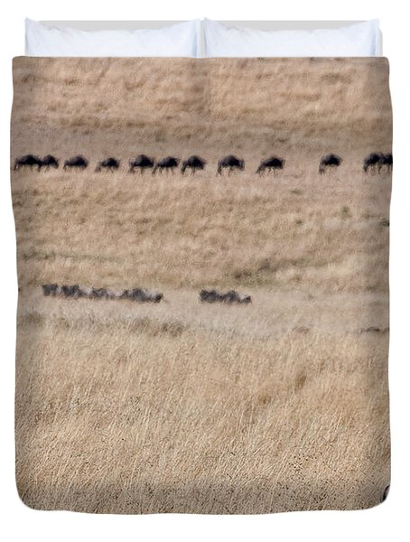 Watching The Herd Duvet Cover