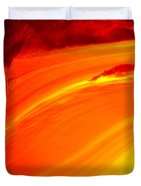 Watching The Lava Flow Duvet Cover by Erik Aeder - Printscapes