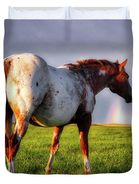 Watching The Rainbow Duvet Cover