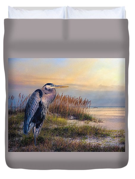 Watching The Sun Go Down Duvet Cover by Brian Tarr