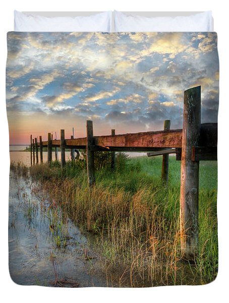 Watching The Sun Rise Duvet Cover