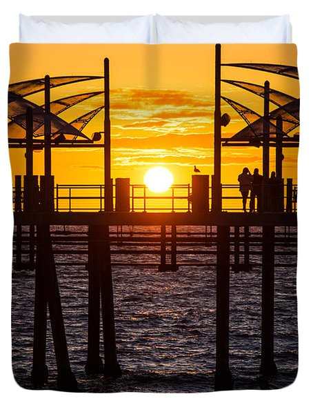 Watching The Sunset Duvet Cover