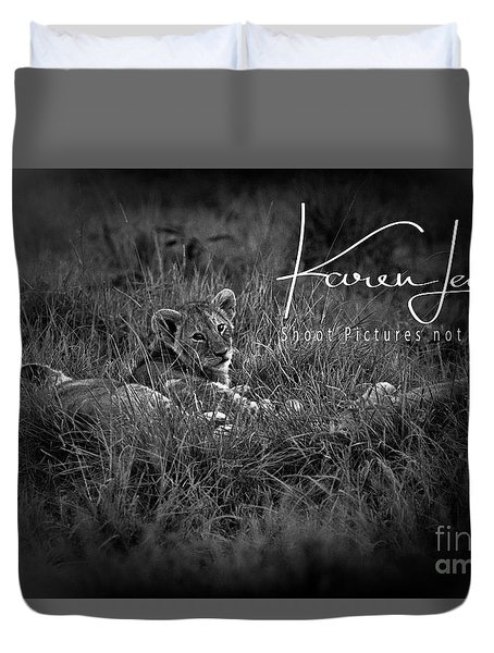 Duvet Cover featuring the photograph Watching You Watching Me by Karen Lewis