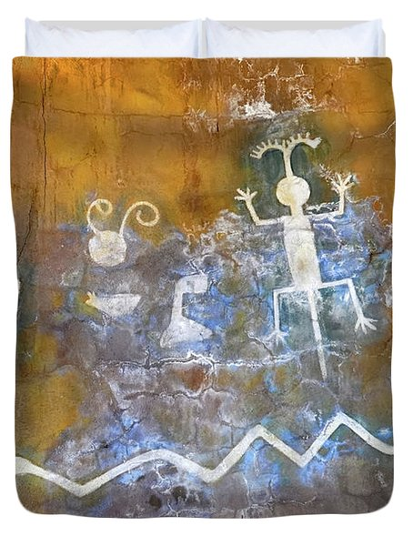 Watchtower Rock Art  Duvet Cover