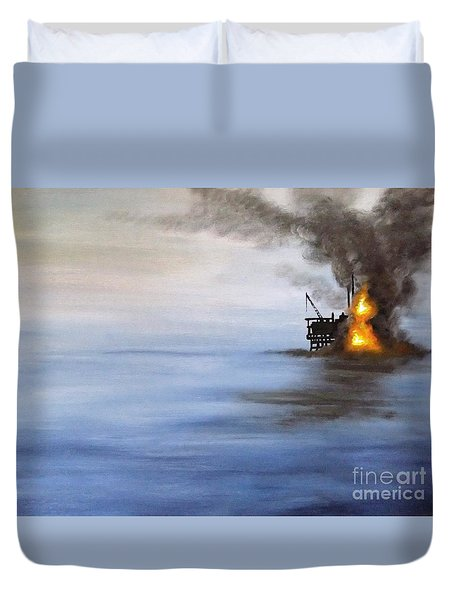 Water And Air Pollution Duvet Cover