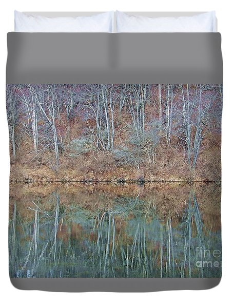 Duvet Cover featuring the photograph Water And Lace by Christian Mattison