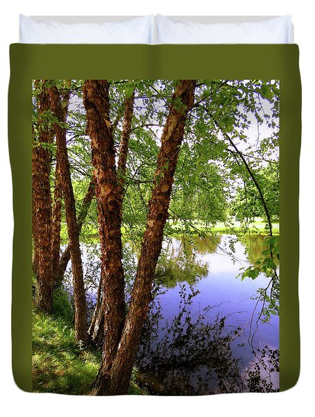 Water Birch Duvet Cover