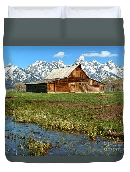 Water By The Barn Duvet Cover by Adam Jewell
