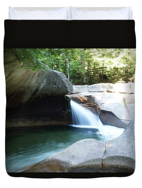 Duvet Cover featuring the photograph Water-carved Rock by Kerri Mortenson