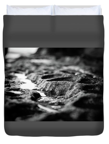 Water Carvings Duvet Cover