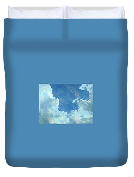 Water Clouds Duvet Cover