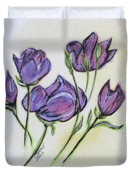 Water Color Pencil Exercise Duvet Cover