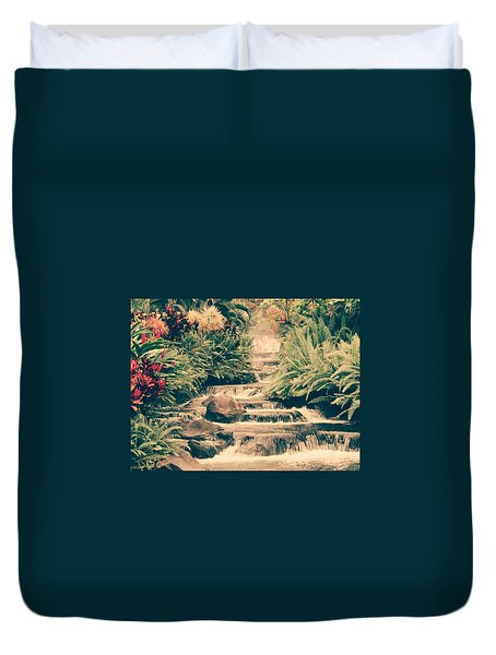 Duvet Cover featuring the photograph Water Creek by Sheila Mcdonald