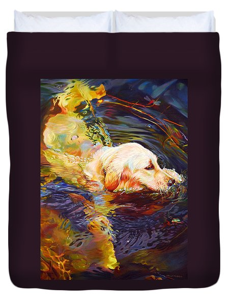 Water Dance 2 Duvet Cover by Kelly McNeil