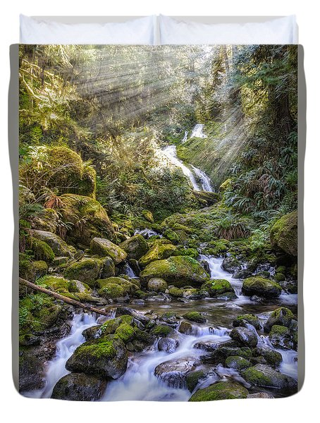 Water Dance Duvet Cover by James Heckt