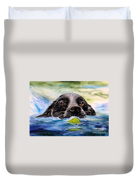 Water Dog Duvet Cover