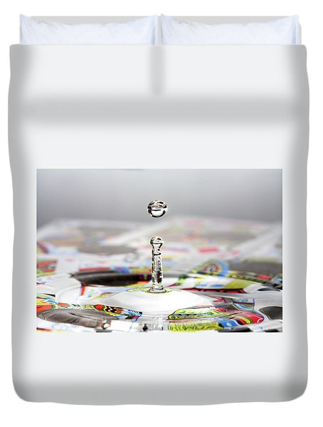 Water Drop Cards Duvet Cover