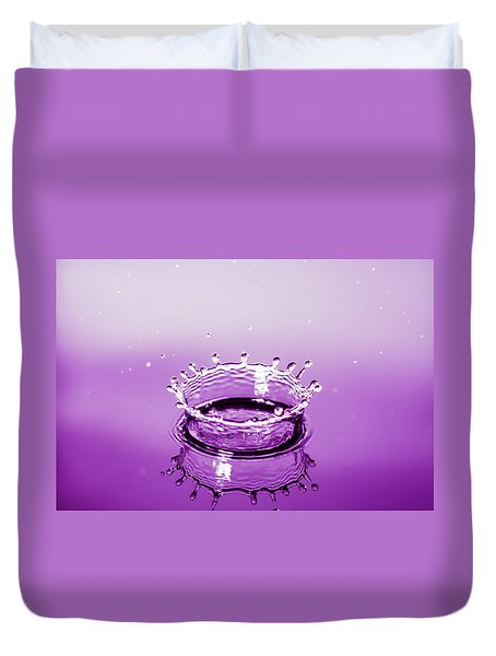 Water Drop Crown Duvet Cover