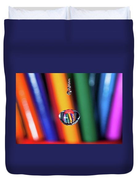 Water Drop Pencils Duvet Cover