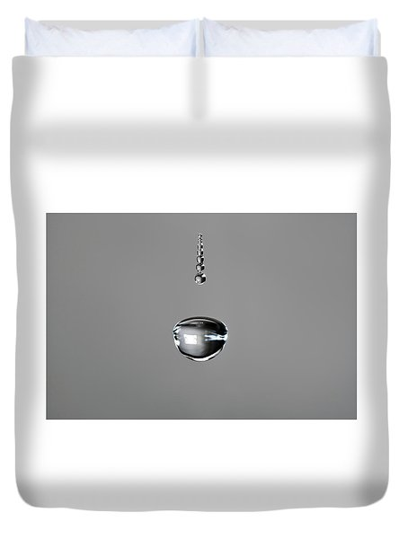 Water Drop Trail Duvet Cover
