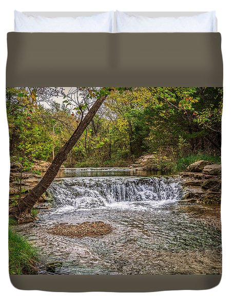 Water Fall Duvet Cover by Doug Long