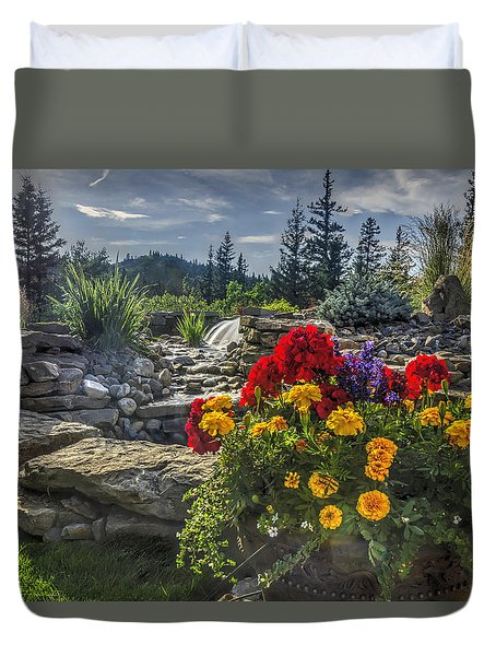 Water Feature Duvet Cover