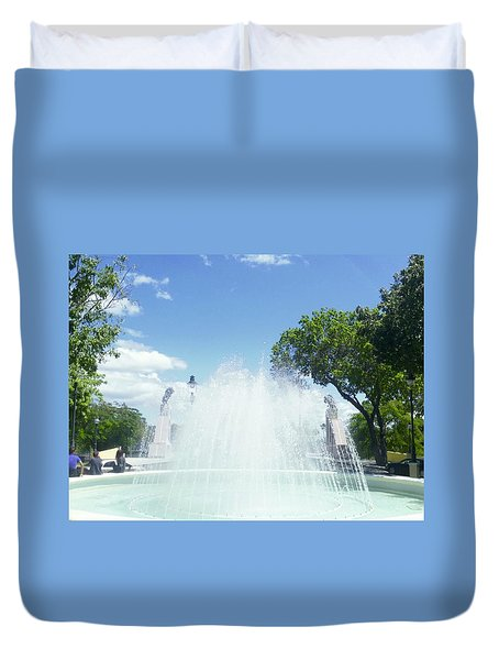 Water Fountain Ponce, Puerto Rico Duvet Cover