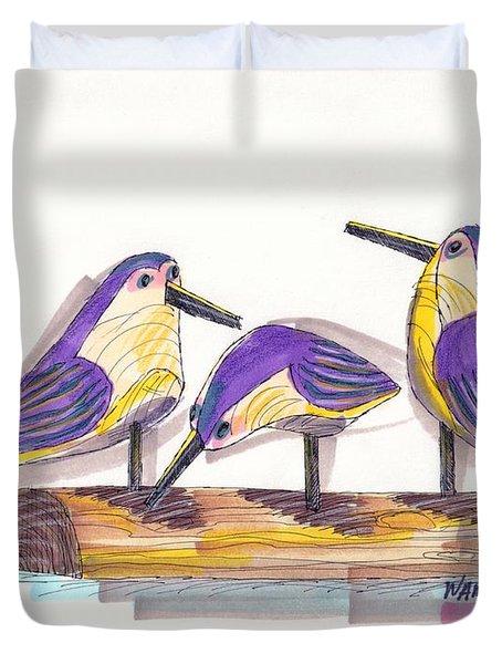 Water Fowl Motif #2 Duvet Cover