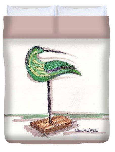 Water Fowl Motif #3 Duvet Cover