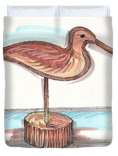 Water Fowl Motif #4 Duvet Cover