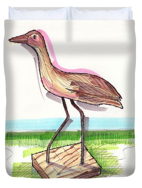 Water Fowl Motif #5 Duvet Cover
