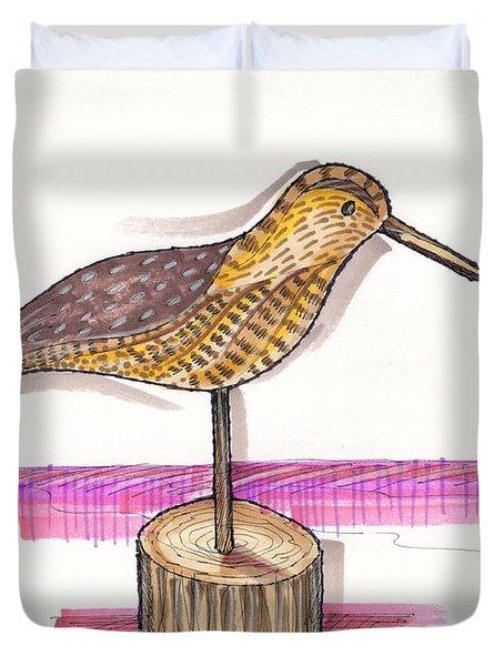 Water Fowl Motif #6 Duvet Cover