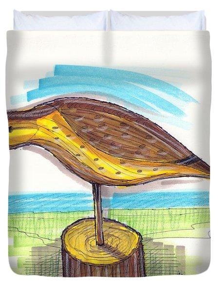 Water Fowl Motif #7 Duvet Cover