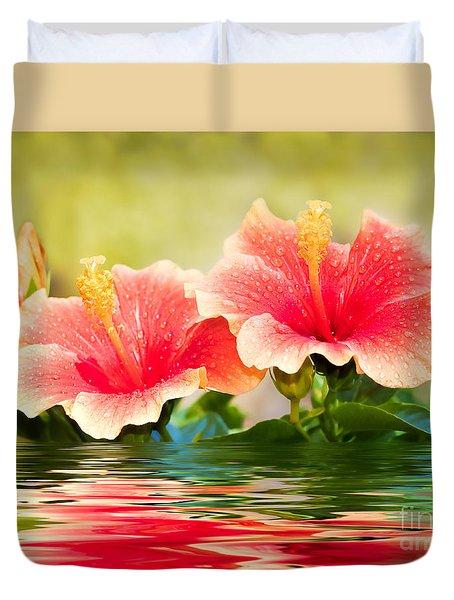 Water Hibiscus Duvet Cover