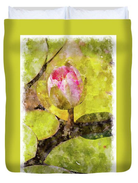 Water Hyacinth Bud Wc Duvet Cover by Peter J Sucy