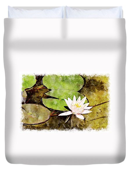 Water Hyacinth Two Wc Duvet Cover by Peter J Sucy
